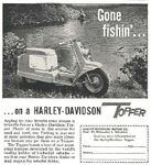 1960 gone fishing topper ad