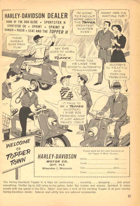 1962 Harley Topper Ad