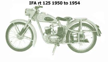 ifa rt 125 1950 to 1954