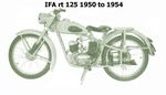 ifa rt 125 1950 to 1954