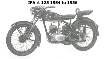 ifa rt 125 1954 to 1956