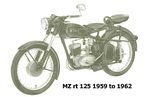 mz rt 125 1959 to 1962