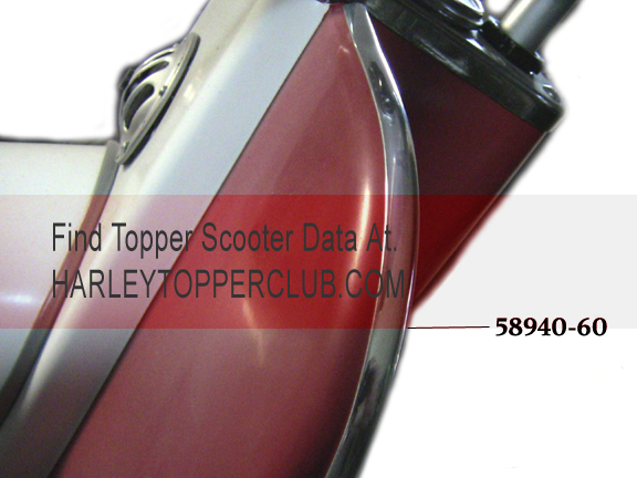Harley Topper Trim no. 58940-60