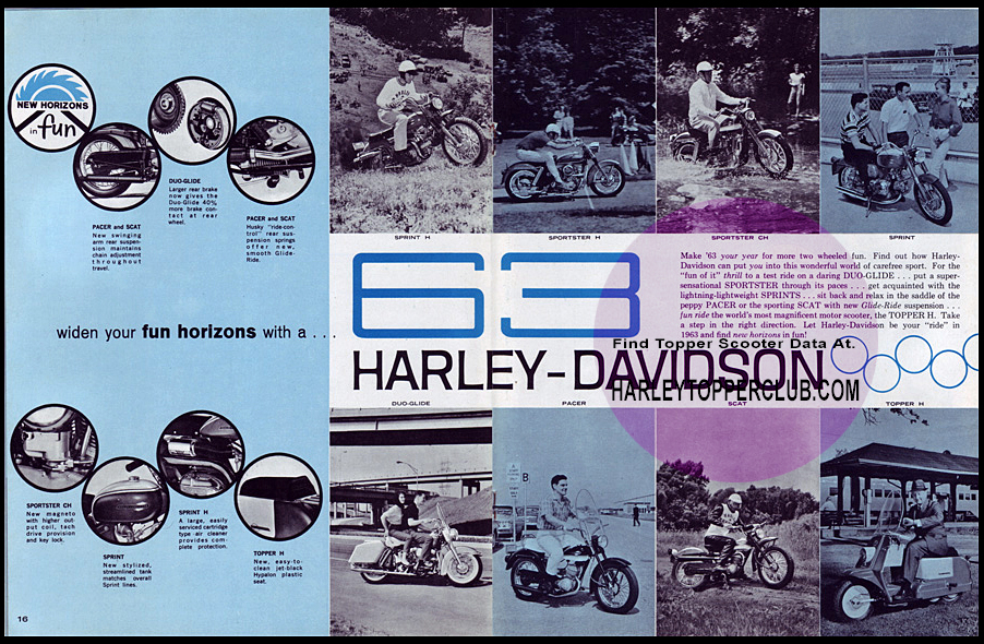 1963 Harley Topper carrly-all ad