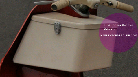 Harley Topper Carry-all lid and locks