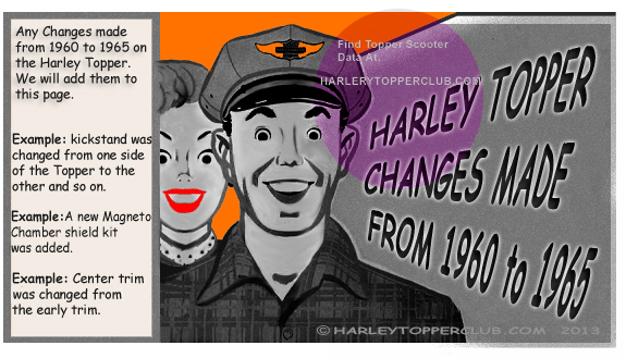 Harley Topper went throught many changes from 1960 to 1961 and you can find them on this webpage.