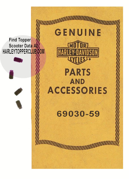 Harley Topper Horn Terminal Screw no. 69030-59