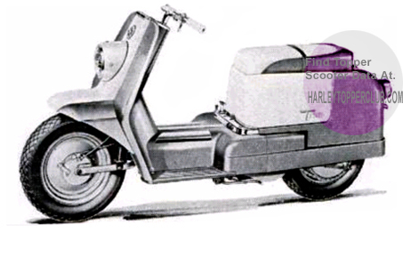 Picture of a 1960 Harley Topper Scooter