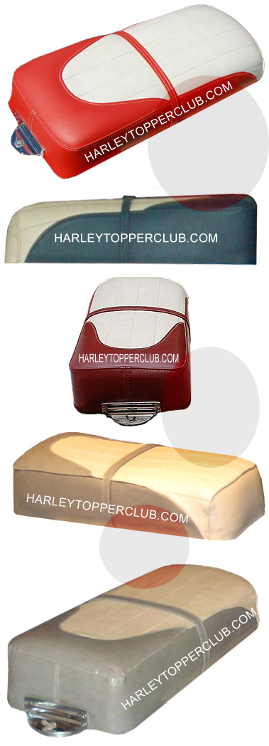 Harley Topper seat selection colors and sewing patterns 52011-59,52014-61,52023-62.