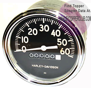 Harley Davidson speedometer 67010-59 fits 1960 to 1962 A, AU, AH